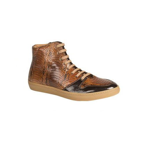 Mezlan Bacoli Snakeskin Sneakers Brown Multi Image