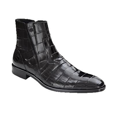 Mezlan Belucci Alligator Zipper Boots Black Image