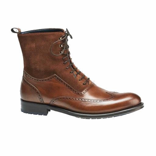 Mezlan Benalva Wingtip Boots Cognac Image
