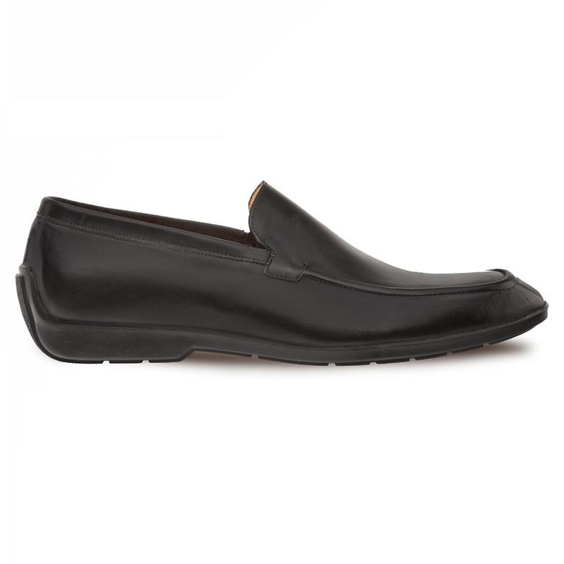 Mezlan Berkley Calfskin Slip-on Shoes Black Image