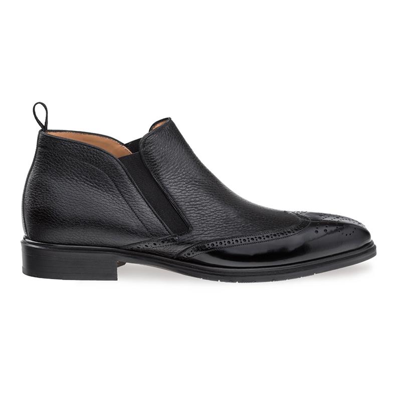 Mezlan Bexley Wing Tip Ankle Boots Black Image