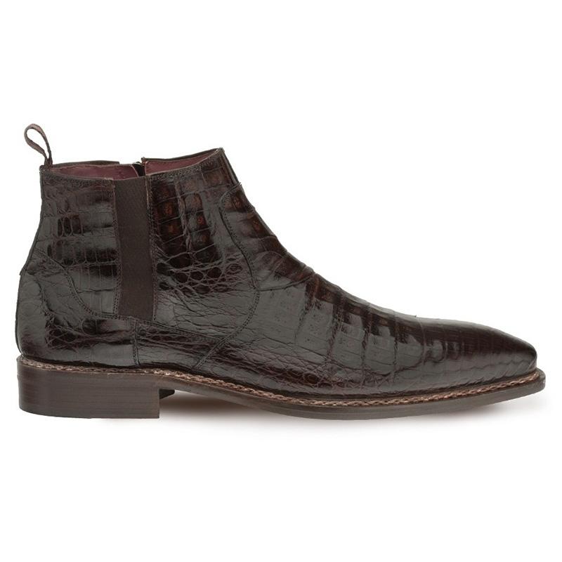 Mezlan Blackmore Crocodile Dress Boots Brown Image