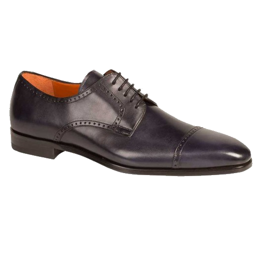 Mezlan Boas Cap Toe Derby Shoes Burnished Black Image