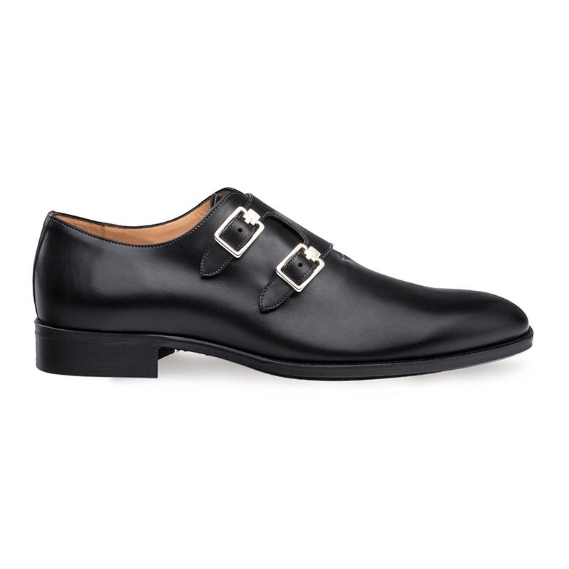 Mezlan Brescia Double Monk Strap Shoes Black Image