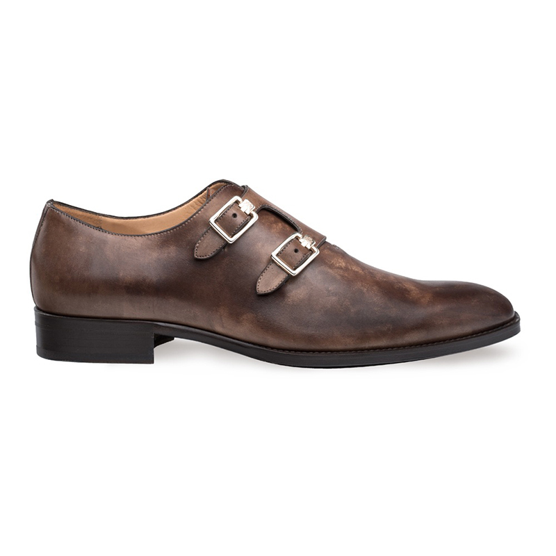 Mezlan Brescia Double Monk Strap Shoes Brown Image