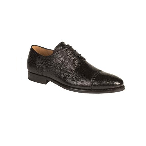 Mezlan Capri Peccary Cap Toe Shoes Black Image