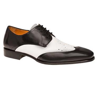 Mezlan Chapi Wingtip Spectator Shoes Black / White Image