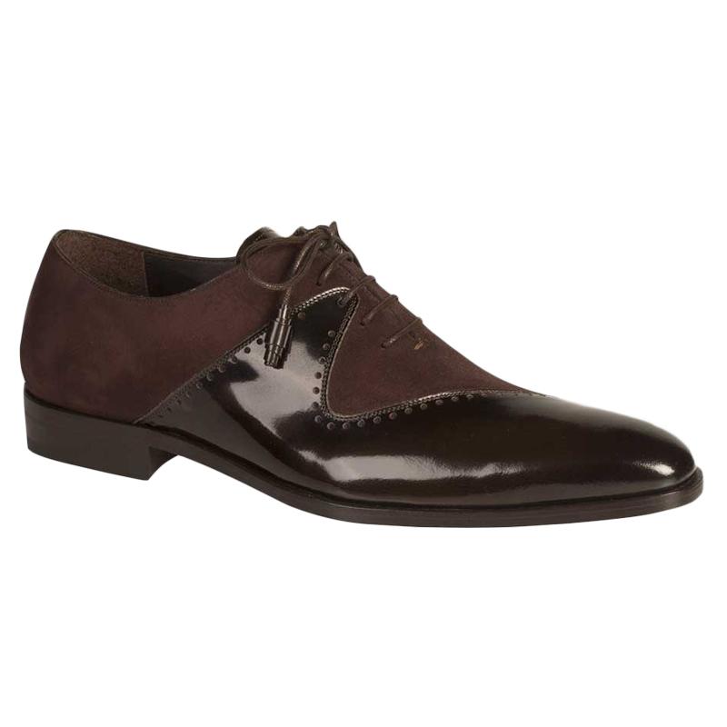 Mezlan Charlotte Calfskin Suede Shoes Dark Brown Image