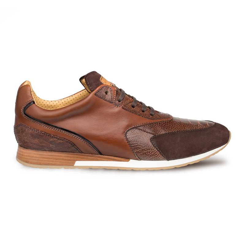 Mezlan Chiron Ostrich Sneakers Dark Brown/Cognac Image