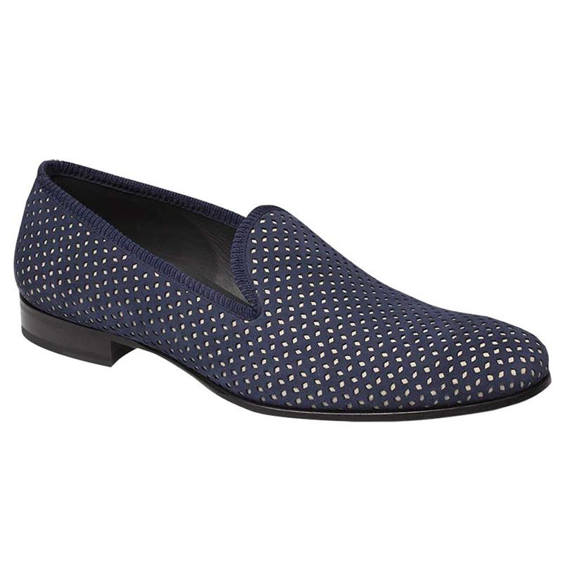 Mezlan Cibeles Suede Shoes Blue / Bone Image
