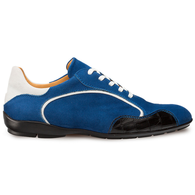 Mezlan Coronado Suede Sneaker Blue / White Image