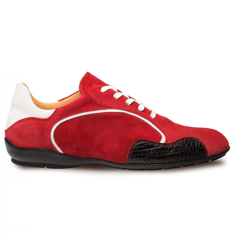 Mezlan Coronado Suede Sneaker Red / White Image