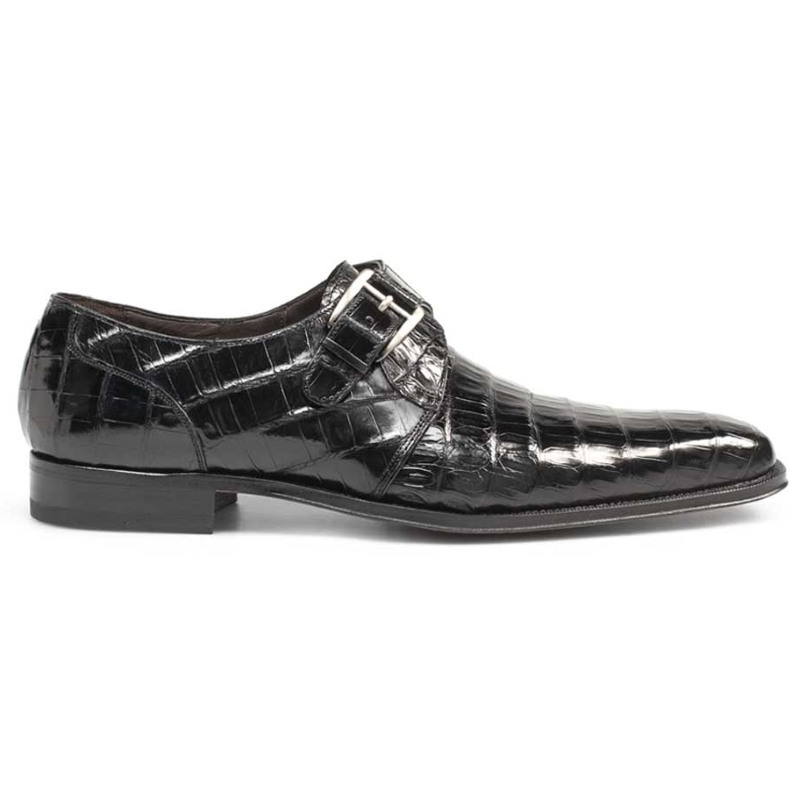 Mezlan Dallas Crocodile Shoes Black Image