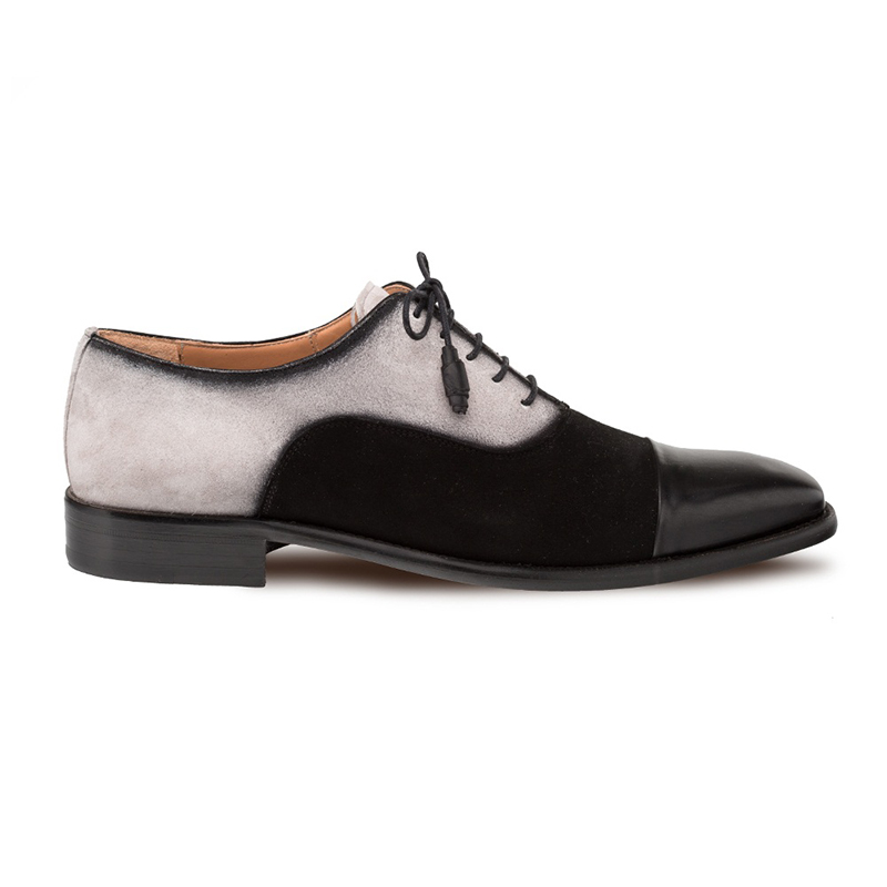 Mezlan Drayton Cap Toe Oxford Black/Grey Image