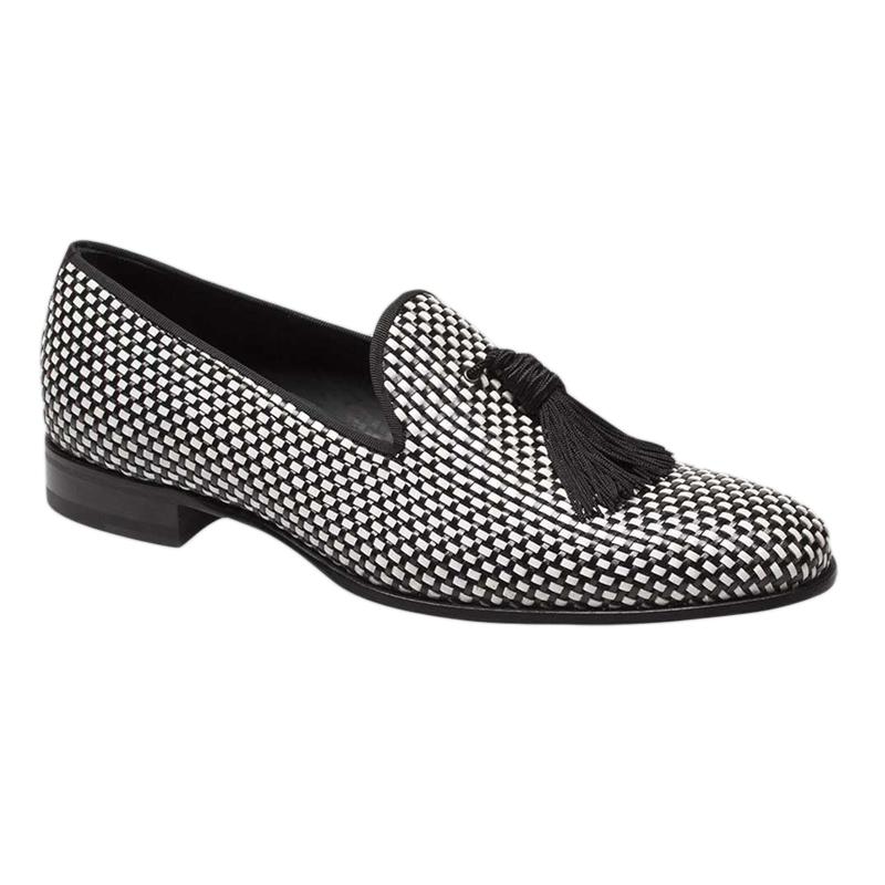 Mezlan Egeo Loafers Black White Image