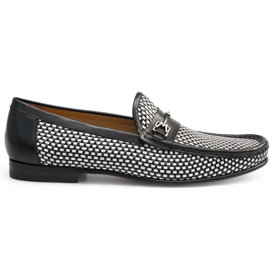 Mezlan Era Woven Loafers Black / White Image