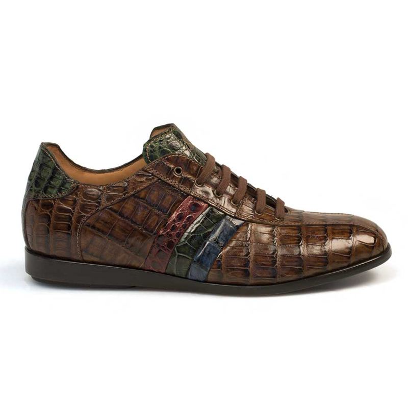 Mezlan Eros Crocodile Sneaker Brown Multi Image