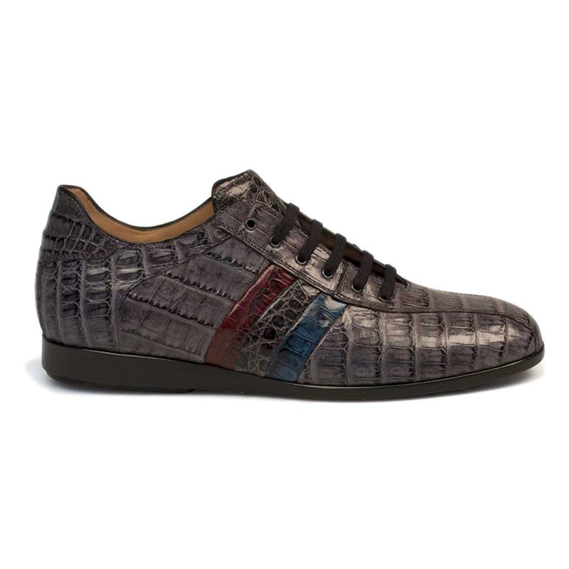 Mezlan Eros Crocodile Sneaker Grey Multi Image