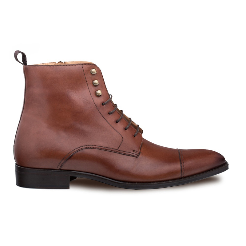 Mezlan Essen Lace Up Boots Cognac Image