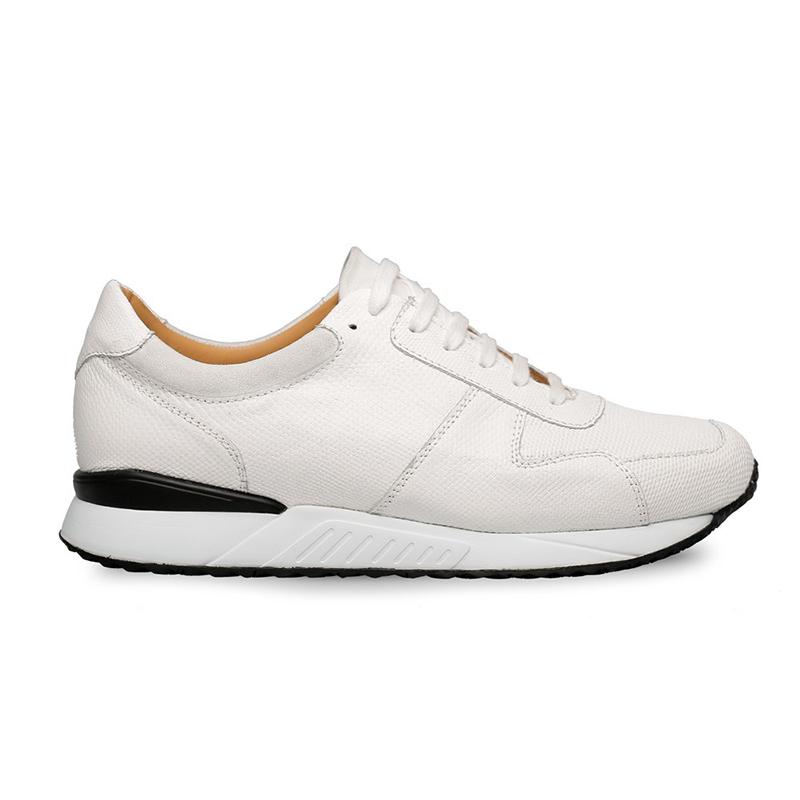 Mezlan Fabio Snake / Suede Sneakers White Image