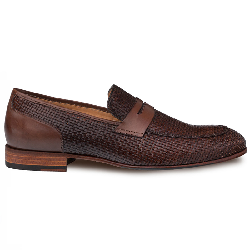 Mezlan Faro Woven Loafers Brown Image
