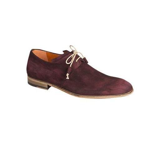 Mezlan Fenis Suede Derby Shoes Grape Image