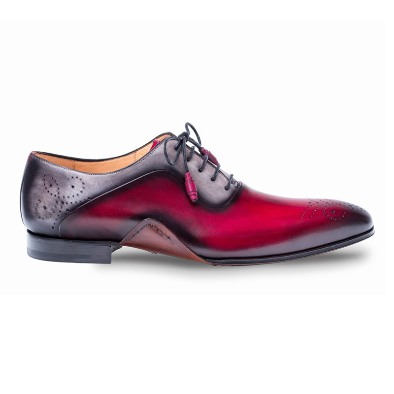Mezlan Ferrara Oxford Shoes Burgundy / Grey Image