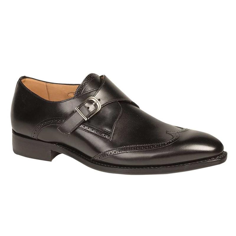 Mezlan G121 Calfskin Wingtip Shoes Black Image