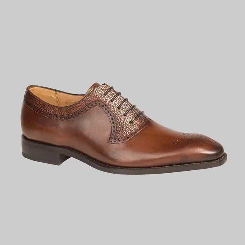 Mezlan G126 Medallion Shoes Dark Brown Image
