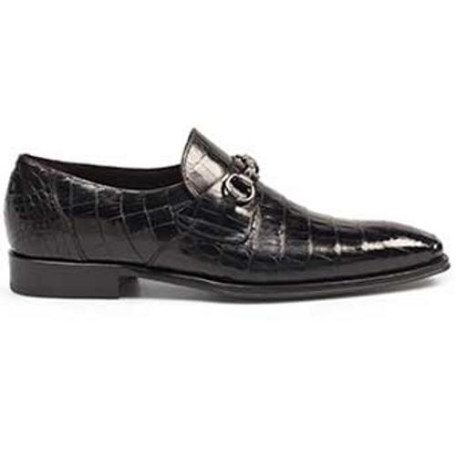 Mezlan Galvani II Crocodile Shoe Black Image