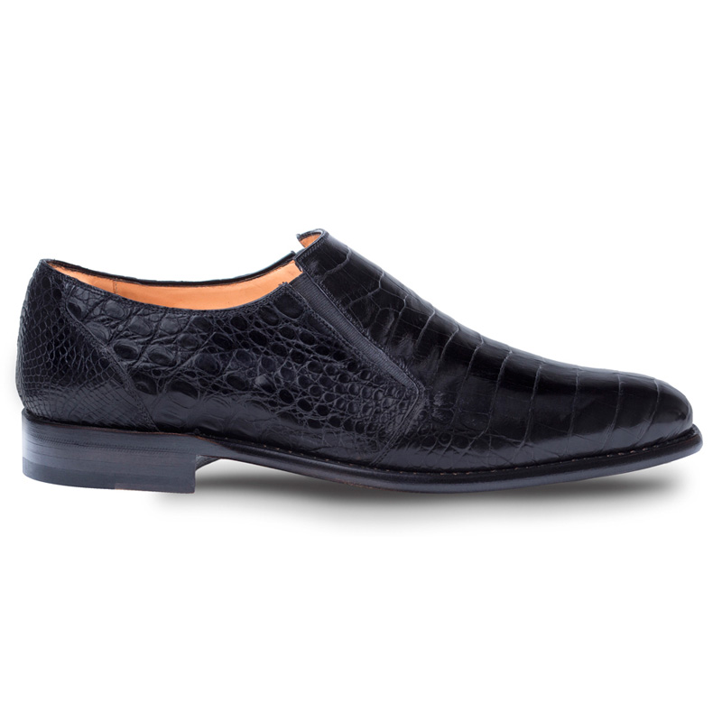 Mezlan Gere Crocodile Loafers Black Image