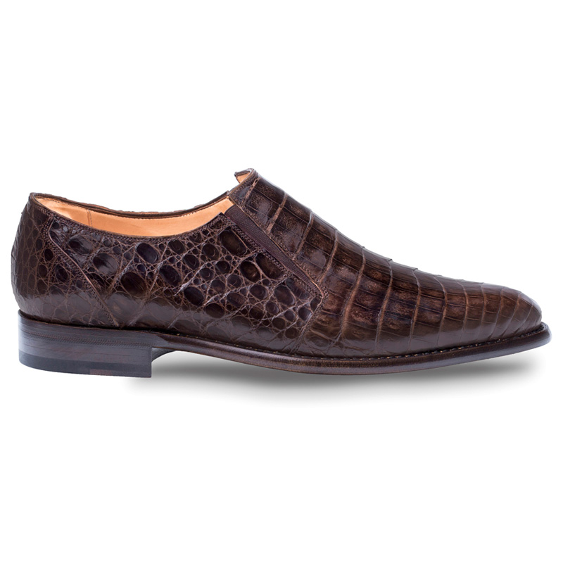 Mezlan Gere Crocodile Loafers Brown Image