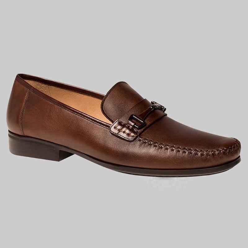 Mezlan Ghedini Calfskin Mocassin Shoes Cognac / Brown Image