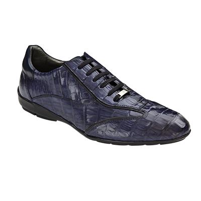 Mezlan Glasgow Crocodile Sneakers Blue