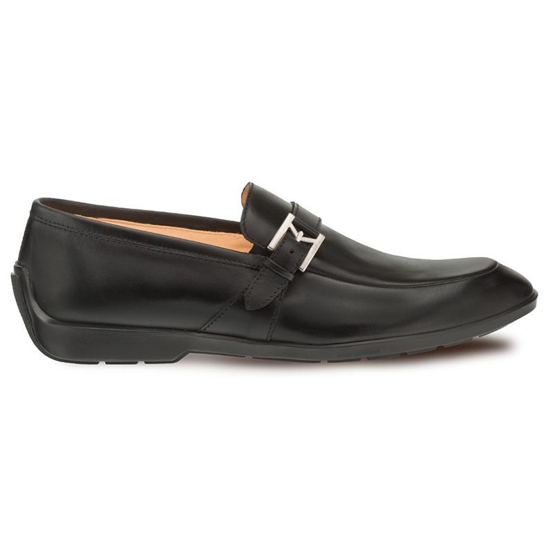 Mezlan Granby Calfskin Monkstrap Shoes Black Image