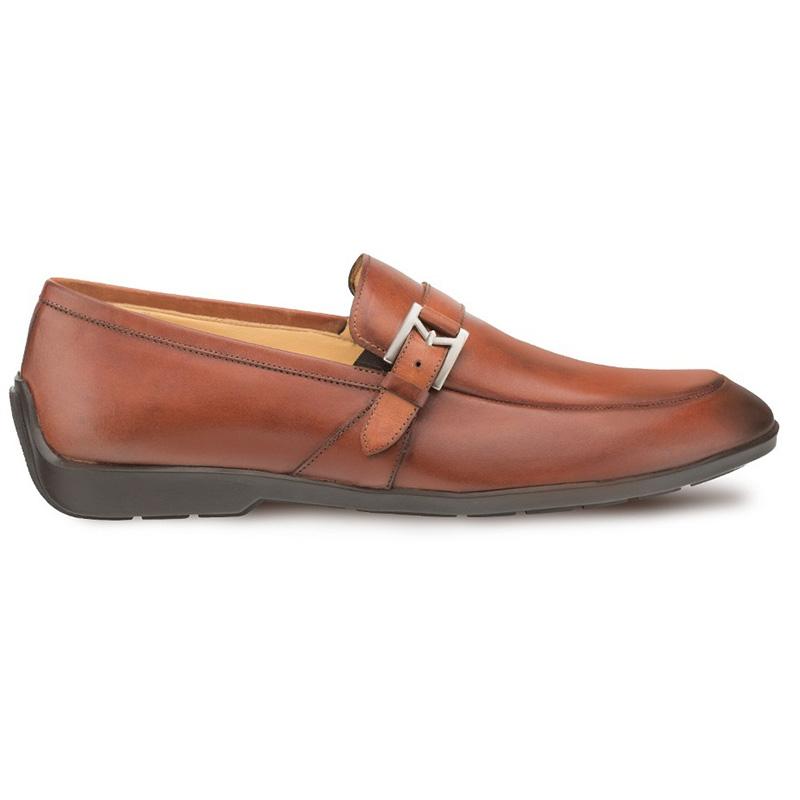 Mezlan Granby Calfskin Monkstrap Shoes Cognac Image