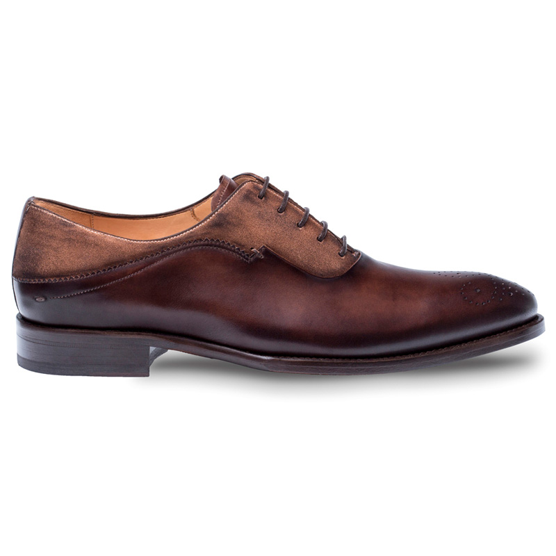 Mezlan Hanks Calfskin Suede Oxford Shoes Brown / Cognac Image