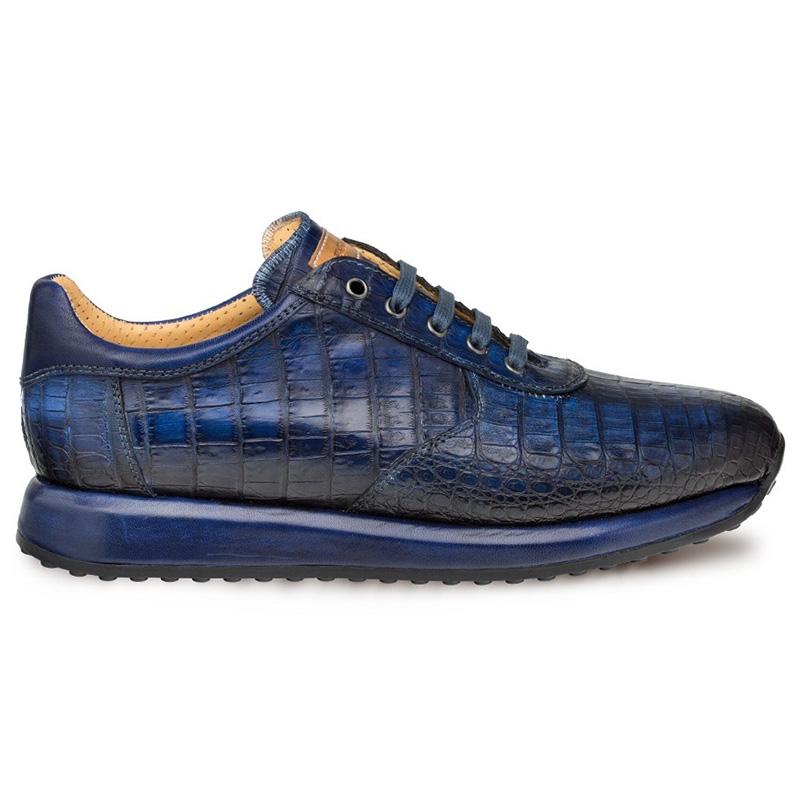 Mezlan Hannibal Crocodile Sneakers Blue Image