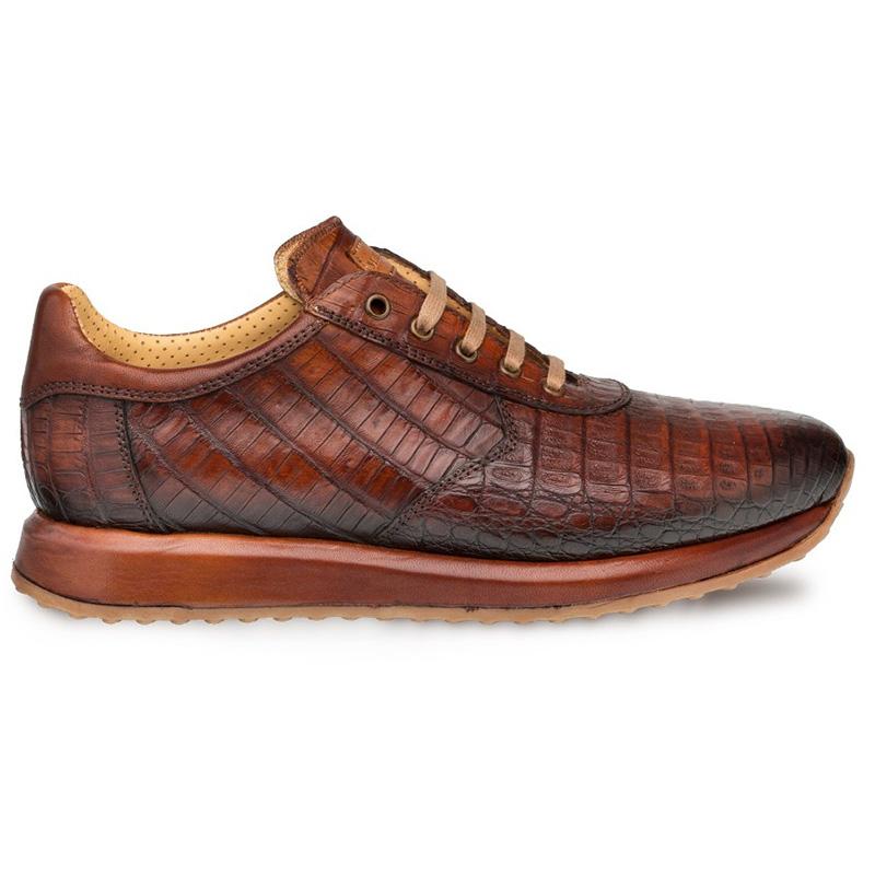 Mezlan Hannibal Crocodile Sneakers Cognac Image