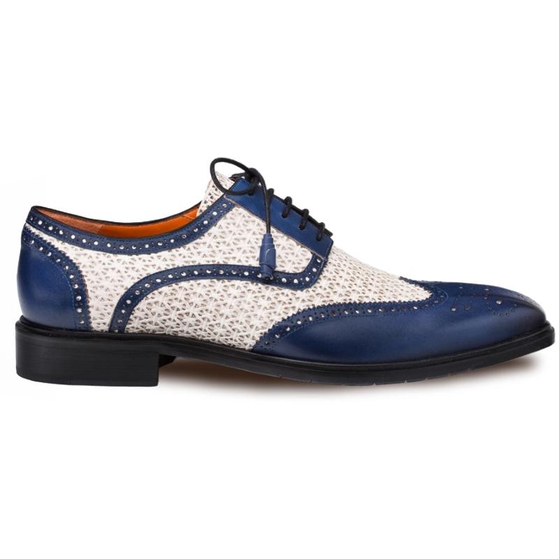Mezlan Haydn Wingtip Spectator Shoes Blue / Bone Image