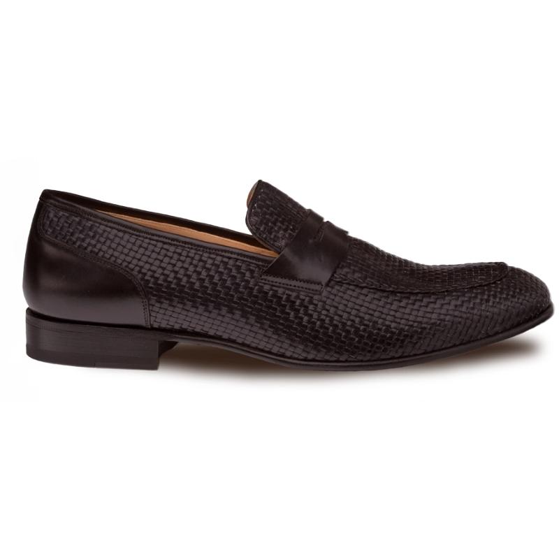 Mezlan Faro Woven Loafers Black Image