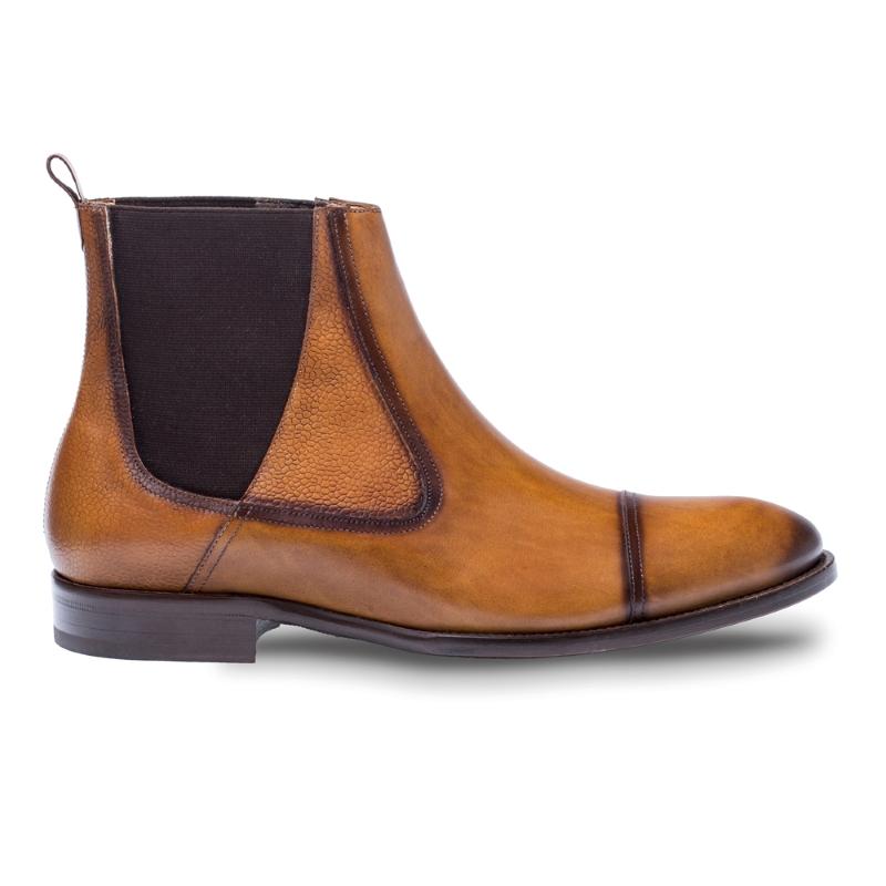 cognac dress boots