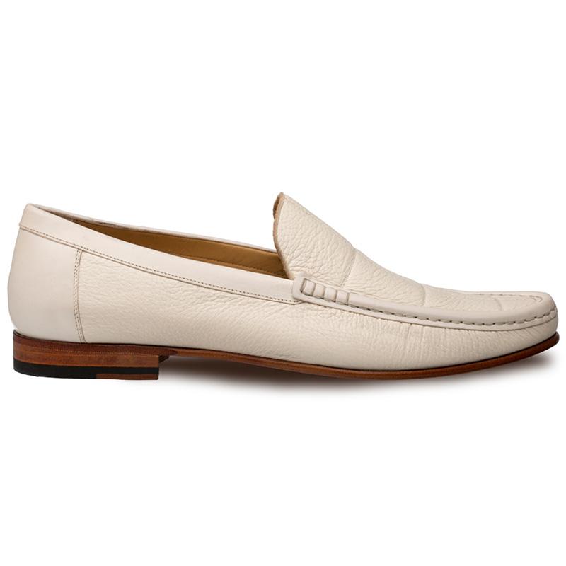 Mezlan Imanol Deerskin Calfskin Shoes Bone Image