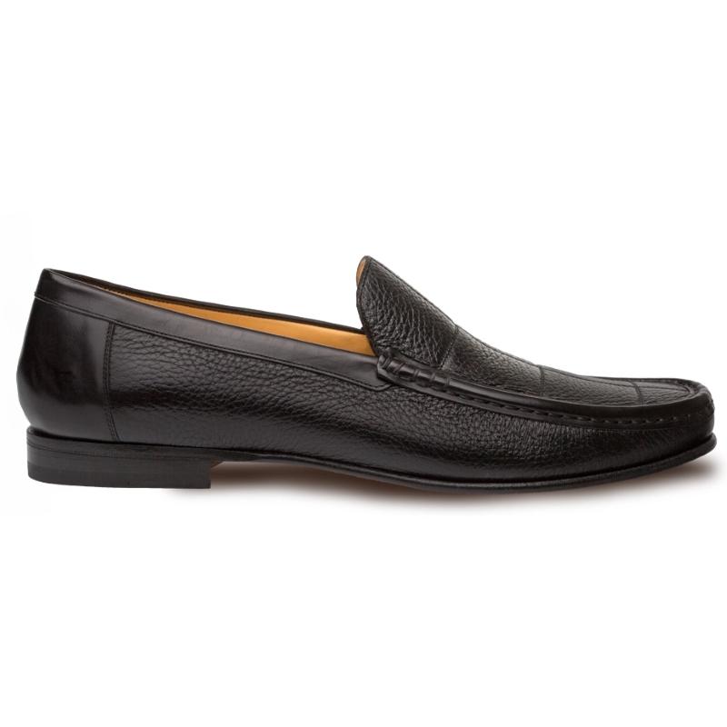 Mezlan Imanol Deerskin Calfskin Shoes Black Image