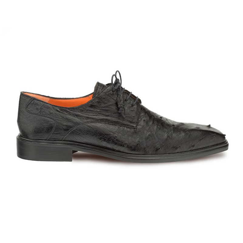 Mezlan Ivo Ostrich Quill Lace Up Black Image