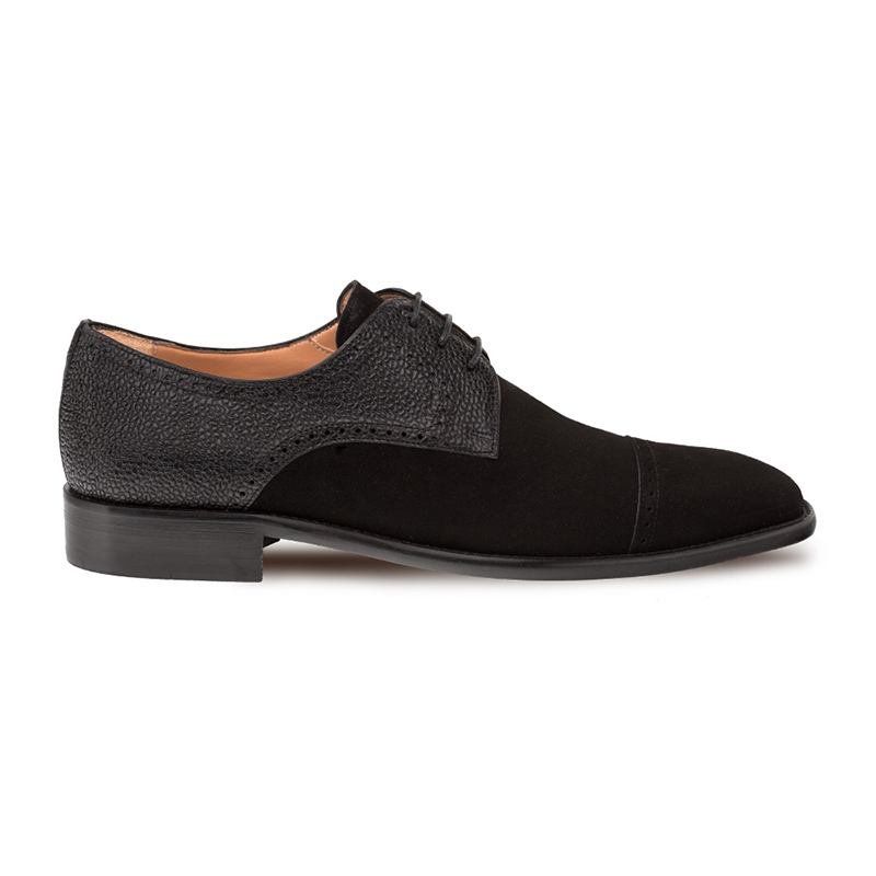 Mezlan Janus Cap Toe Shoes Black Image