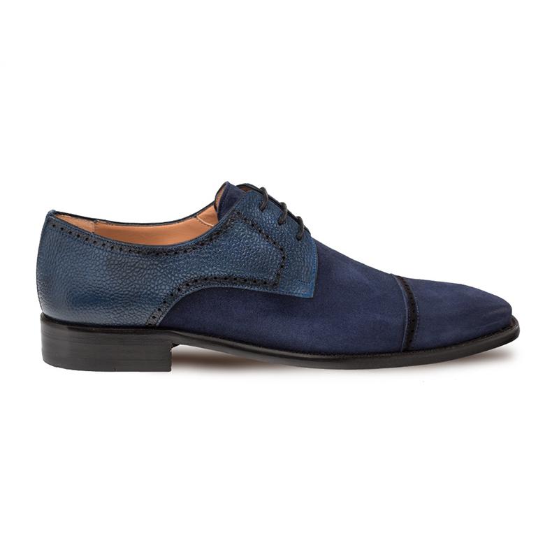 Mezlan Janus Cap Toe Shoes Blue Image