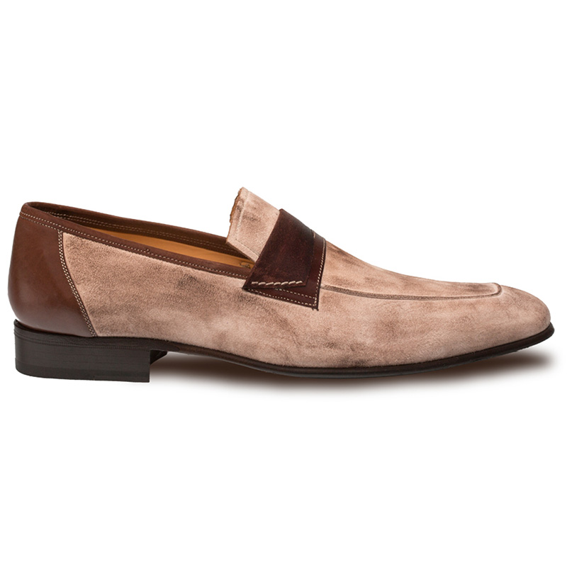 Mezlan Jordi Suede Calfskin Shoes Taupe / Brown Image