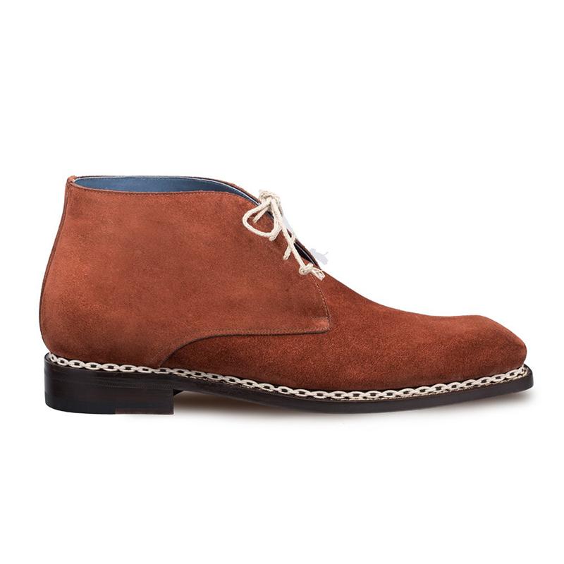 Mezlan Kassel Suede Boots Cognac Image