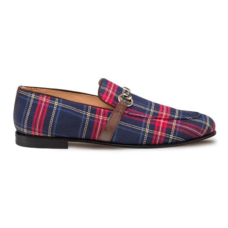 Mezlan Knighton Fabric Shoes Blue Image